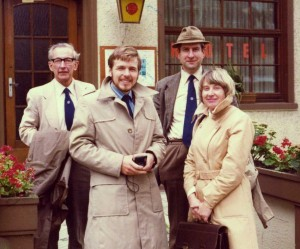 L to R: Tom Oxley, Ken Seal, Howard Eggins and Sheila Barry at the Berlin Symposium, 1978