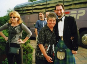Iwona Beech, Diane Band and Jimmy Walker at the Prague Symposium 2002