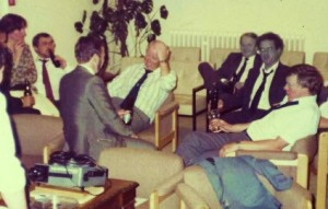 L to R: Chris Gaylarde, Graham Lloyd, Ken Seal, Tony Bravery, AN Other, Glyn Morton, Ted Hill