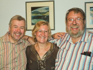 Chris Gaylarde with Ken Seal (L) and Dennis Allsopp (R)