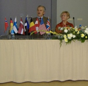Chris at the opening of the Riga meeting, 2007
