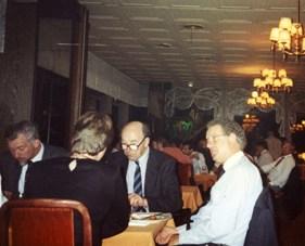 Alan Barr (far L) with Brian Flannigan, Glyn Morton and Joan Kelley (facing away)