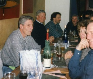 Clockwise from L: Bob Springle, Eugene Bessems, Pete Askew, Malcolm Greenhalgh, Kathy Roberts, John Gillatt
