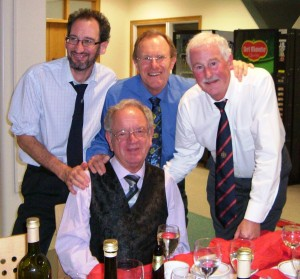 Organisers Jimmy Walker (L), John Gillatt (M), Malcolm Greenhalgh (R) and Glyn Morton (front)