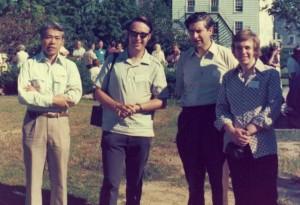 Takafusa Haraguchi, Dennis Allsopp, Howard Eggins and Ken Seal at the Rhode Island Symposium