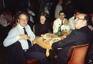 Anticlockwise from R: Brian Flannigan, Glyn Morton, Joan Kelley, Paul Raschle