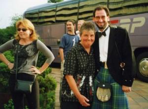 Iwona Beech, Diane Band and Jimmy Walker at the Prague Symposium 2002