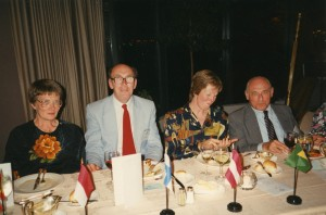 From L, Brian Flannigan with his wife, Margaret, at the Windsor Symposium, with Joan Kelley and Arthur Kaplan
