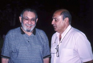 Harold Rossmoore (L) with Fernando Laborda at the at the 11th symposium, 1999