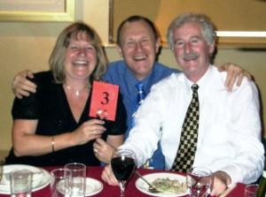 Jo Verran with John Gillatt (M) and Malcolm Greenhalgh (R)