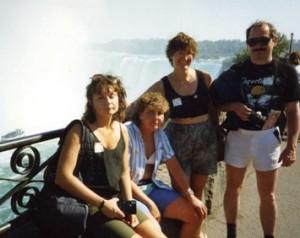 L to R: Iwona Beech, Di Band, Chris Gaylarde and Robert Edyvean. Niagara Falls, after the Windsor Symposium